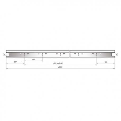 Т-Профиль 24х29х3600 Стандарт белый
