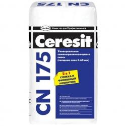 CN 175 Самовыравнивающая смесь 3-60мм. 25 кг. CERESIT