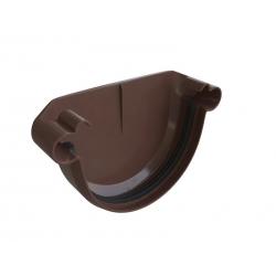 Заглушка 125мм коричневая Альта Профиль
