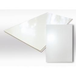 Панель пластиковая Белый Лак 6м.х25см. 7,5мм WALLPLAST