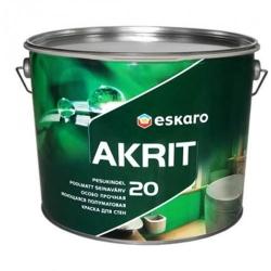 Краска Eskaro Akrit 20 2,85л акрилатная интерьерная с высокой устойчивостью к мытью и истиранию