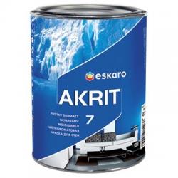 Краска ESKARO AKRIT 7 моющаяся шелково-матовая для стен 0,95л