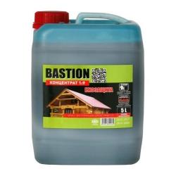 Деревозащитный состав BASTION 1:9 концентрат/ 5л. ЗЕЛЕНЫЙ, для стропильных систем