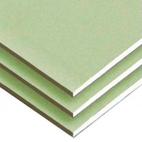 Гипсокартон влагостойкий стеновой 1200х2500х12,5 мм KNAUF