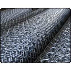 Сетка рабица ОЦИНКОВ. 1,0 м.х10 м.(50х50) d1.6мм