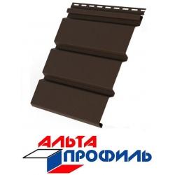 Планка СОФИТ без перфорации Альта Профиль коричневая Т-19 3м.х0,23м.