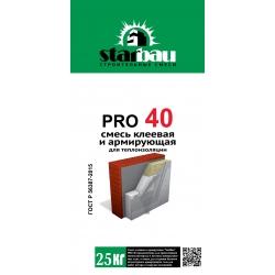 PRO 40 Смесь клеевая и армиркющая для теплоизоляции (25кг.) StarBau