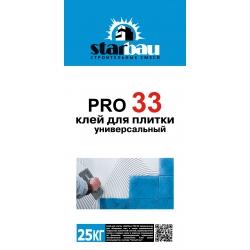 Клей для плитки универсальный PRO33 StarBau 25кг