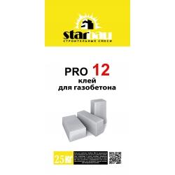 PRO 12 Клей для газобетона (25кг.) StarBau