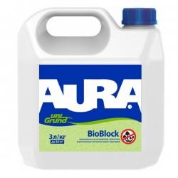 Грунт Aura BioBlock 3л антиплесневый глубокого проникновения