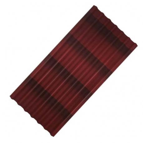 Лист черепица ОНДУЛИН (0,96х1,95)Красный