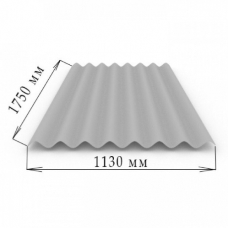 Шифер 8 волновой 1,75 х 1,13 (5,8мм)
