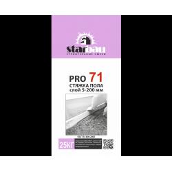 PRO 71 Стяжка для пола 5-200 мм (25кг). StarBau