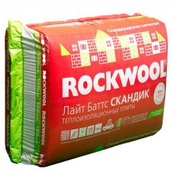 Утеплитель Скандик Лайт Баттс (35г/м3) 800х600х100(2,88м.кв.) для внутр. работ ROCKWOOL